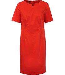 jurk met korte mouwen van basler rood