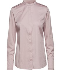 feminin fit shirt w. plisse grosgra