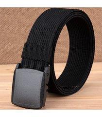 cinturón de hombres, correa ambiental de nylon de-negro