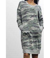 coin 1804 womens camo print kangaroo pocket dress
