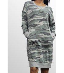 coin 1804 womens camo print kangaroo pocket dress