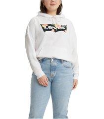 levi's plus size logo graphic hoodie