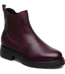 woms boots stövletter chelsea boot röd tamaris