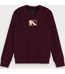 scotch & soda cotton-blend long sleeve basic sweatshirt