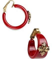 """patricia nash women's resin hoop earrings 1"""""""