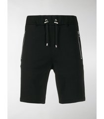 balmain embossed logo track shorts