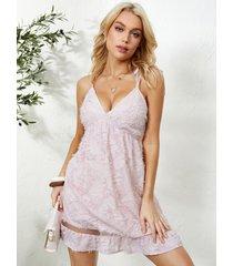 mini vestido sin mangas con tirantes ajustables y espagueti de yoins
