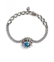 cynthia desser swarovski crystal eye bracelet in brass/crystal/blue at nordstrom