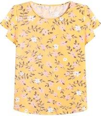 camiseta m/c estampado floral color amarillo,talla l