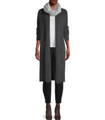la fiorentina women's faux fur shaggy infinity scarf - grey