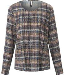 blouse met lange mouwen en ronde hals van peter hahn multicolour