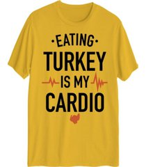 hybrid men's eating turkey is my cardio short sleeve t-shirt