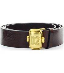 dsquared2 d2 dark brown belt