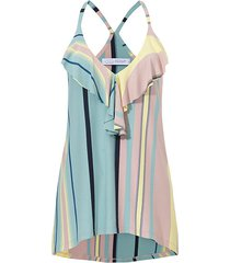 bluzka plażowiczka w pastelowe pasy