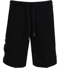 logo print drawcord shorts