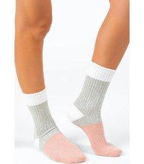 beth color-block socks - blush