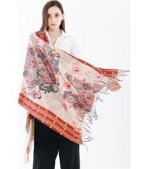 sciarpa di scialle traspirante calda casual di stile etnico delle donne