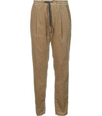 brunello cucinelli tie-waist corduroy trousers