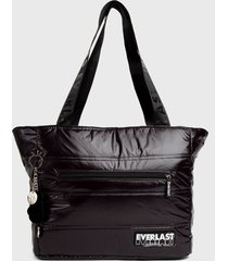 bolso tote quilted queen negro everlast