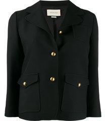 gucci double g hardware jacket - black