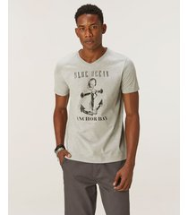 camiseta ncora tradicional meia malha malwee cinza claro - g