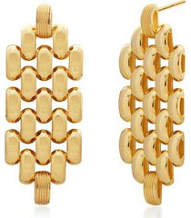 gold doina chain cocktail earrings