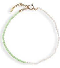 jennifer behr amadora lime necklace - green