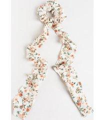 nitsa floral chiffon pony scarf - maroon