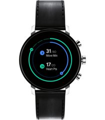 movado connect 2.0 black leather strap touchscreen smart watch 40mm