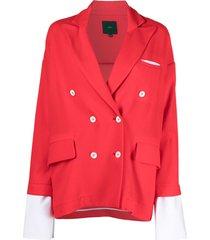 jejia double-breasted drop-shoulder blazer - red