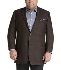 joseph & feiss gold executive fit sport coat bronze check plaid