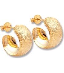 argola le diamond chapa rasurada dourada - tricae