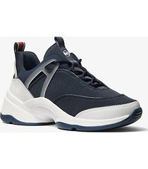 mk sneaker sparks in materiale misto - navy (blu) - michael kors