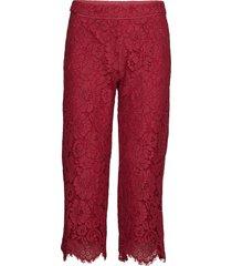 trousers casual broek rood rosemunde