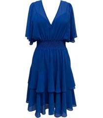 taylor blouson tiered-hem dress