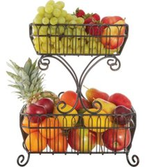 mikasa french countryside 2 tier flatback basket no handle