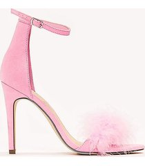 na-kd shoes high heel fur sandalett - pink