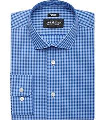awearness kenneth cole blue plaid slim fit dress shirt