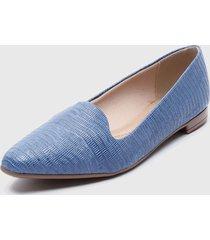 zapato plano azul beira rio