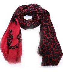 sciarpa liu jo animalier 269068 t0300 beauty red