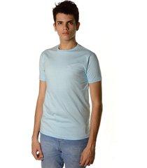camiseta clássica neesie azul bebê