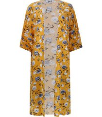 kimono estampado color amarillo, talla 12