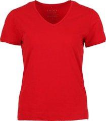 t-shirt basis rood