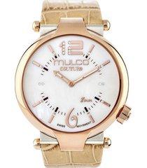 reloj mulco para mujer - couture slim  mw-5-3183-113