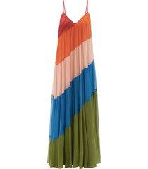 striped silk-chiffon maxi dress