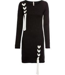 abito in maglia con fiocchi (nero) - bodyflirt boutique