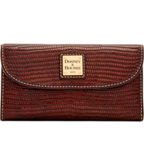 dooney & bourke leather continental clutch wallet
