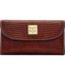 dooney & bourke leather continental clutch wallet