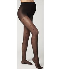 calzedonia polka dot maternity tights woman black size 4
