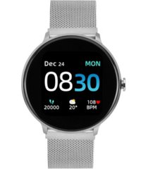 sport 3 unisex touchscreen smartwatch: silver case with silver mesh strap 45mm